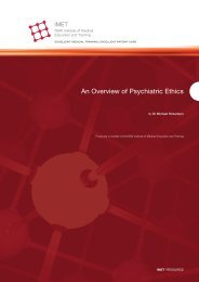 An Overview of Psychiatric Ethics
