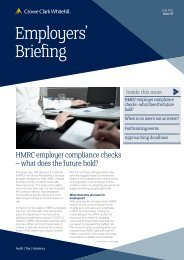 Employers' Briefing July 2011 - Crowe Horwath International