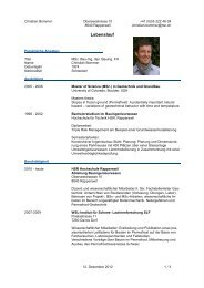 CV von Christian Bommer - IBU - HSR Hochschule für Technik ...