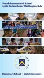 The brochure - Lycée Rochambeau
