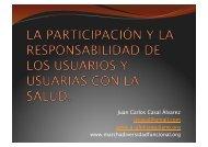 Participación y Responsabilidad de los Usuarios con la Salud