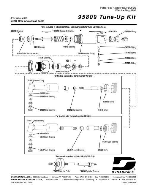 95809 Tune-Up Kit - Dynabrade Inc.