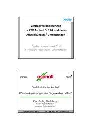 Vertragsveränderungen zur ZTV Asphalt StB 07 und deren ... - VSVI