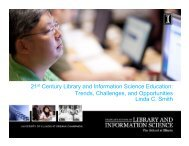21st Century Library and Information Science Education - CALA ...