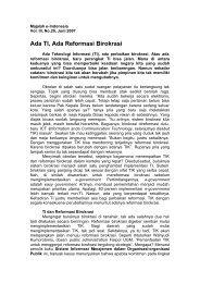 TI dan Reformasi Birokrasi - Kumoro.staff.ugm.ac.id