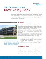 Fiber-Optic Case Study: River Valley Bank - Charter Business