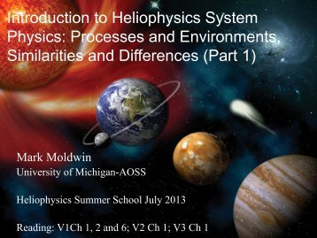 Introduction to Heliophysics System Physics - VSP | UCAR Visiting ...