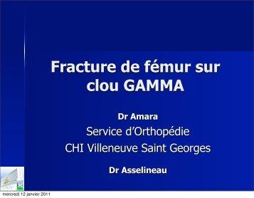 Fracture de fémur sur clou GAMMA - ClubOrtho.fr