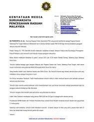kenyataan media suruhanjaya pencegahan rasuah malaysia