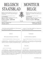 BELGISCH STAATSBLAD MONITEUR BELGE - Awt