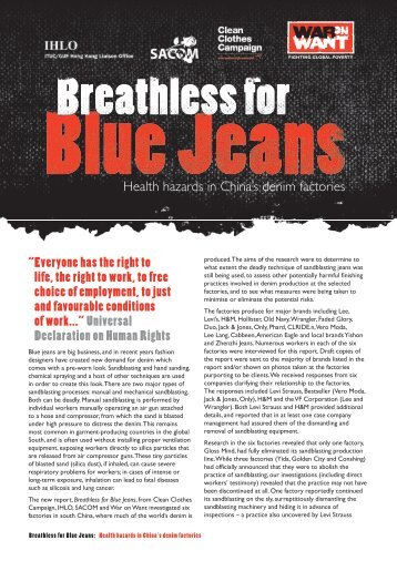 Breathless for Blue Jeans - War on Want