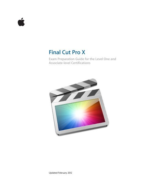Final Cut Pro X - Training and Certification - Apple