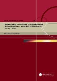 Betydelsen av fast löslighet i järn(hydr) - Svenska EnergiAskor AB