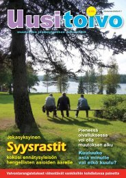 Uusi toivo 3/2009 - Sininauhaliitto