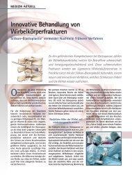 Innovative Behandlung von Wirbelkörperfrakturen - Dr. med. Peer ...