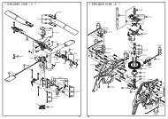 < EXPLODED VIEW (2) > < EXPLODED VIEW (1) > - Kyosho