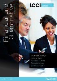 Financial and Quantitative - LCCI International Qualifications
