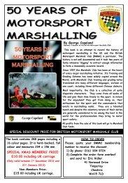 50 YEARS A5 orderER Xmas - British Motor Racing Marshals Club