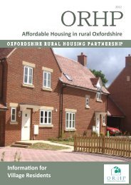 Affordable Rural Housing - Oxfordshire Rural Community Council