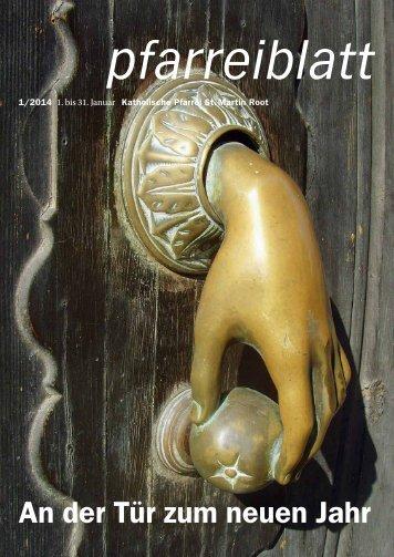 An der Tür zum neuen Jahr - Pfarrei Root