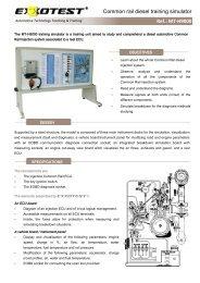 Common rail diesel training simulator Ref.: MT-H9000 - Exxotest