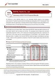 Q3 FY3/12 Financial Results(PDF/570KB) - IRTV Network