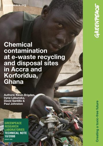 Chemical contamination at e-waste recycling and disposal ... - EcoInfo