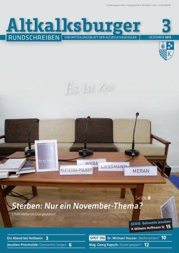 Ausgabe 3-2013/2014 - Altkalksburger Vereinigung
