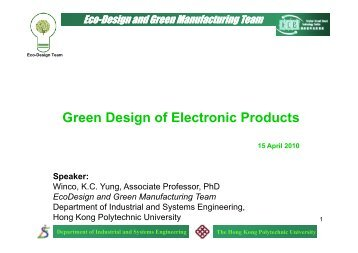 Green Design of Electronic Products - HKTDC Hong Kong ...