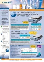 VWR Collection -magneettisekoittaja (VS-C) VWR ... - Vwr-cmd.com