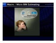 Macro / Micro BIM Estimating