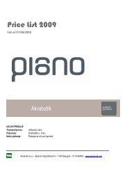 Da pogledate cenovnik Piano parketa kliknite ovde - Akvabutik