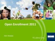 Open Enrollment 2011 - Delaware North