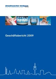 Geschäftsbericht für das Jahr 2009 - Stadtwerke Velbert