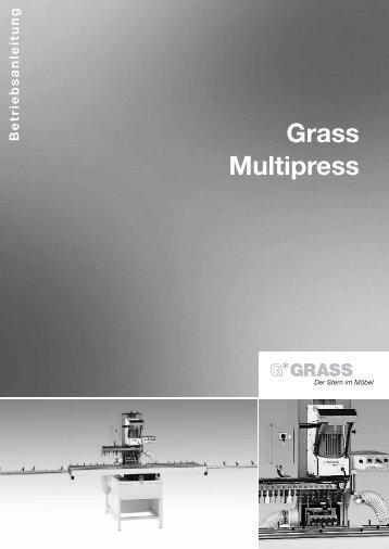 7. arbeiten mit der multipress - Grass