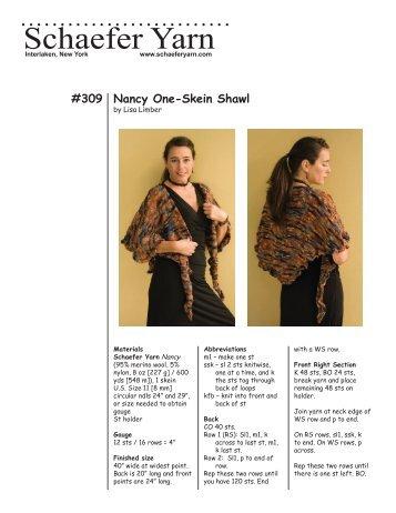 309 Nancy One-Skein Shawl - Knit 'N Style Magazine