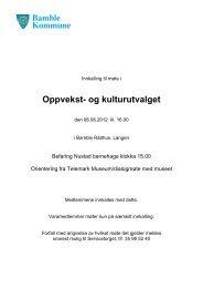 Innkalling og saksliste - O&K 6.6.2012 - Bamble kommune