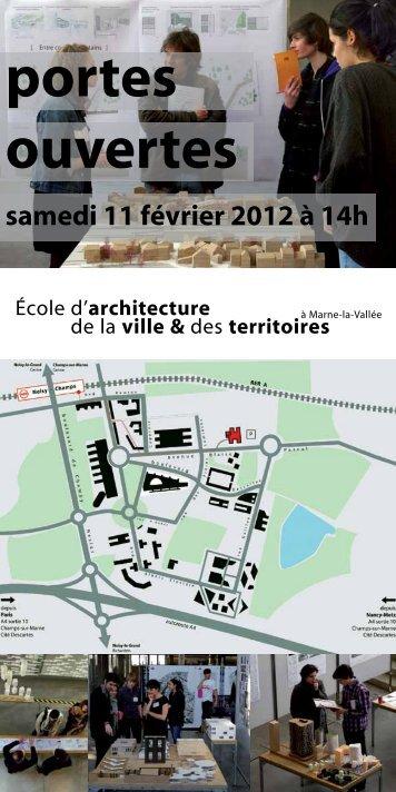 ouvertes portes - École d'architecture de la ville & des territoires à ...