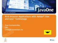 Rich Internet Applications with Adobe® Flex and Java ... - Oracle