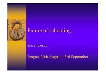 Various perceptions of the Czech schooling