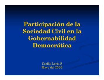 bajar documento PDF - Gobernanza y participación ciudadana