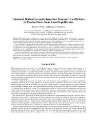 Chemical Derivatives and Elemental Transport Coefficients in ...