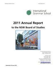 2011 Annual Report - International Grammar School
