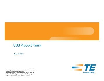 USB Product Family - TE Connectivity