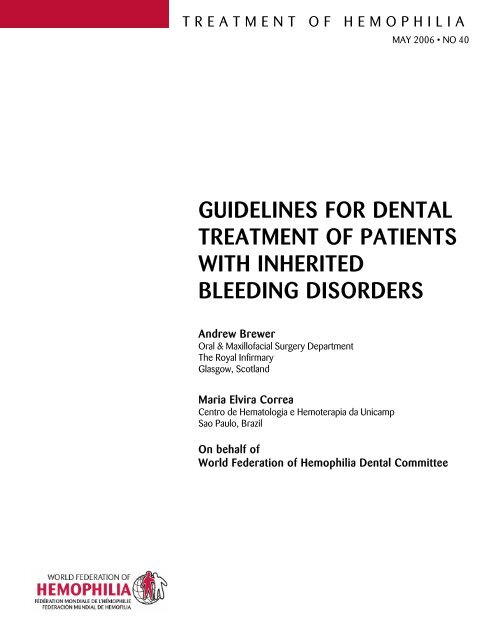 Guidelines For Dental Treatment Of Patients With Inherited
