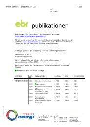 Klicka här för en förteckning över EBR:s publikationer - Svensk energi