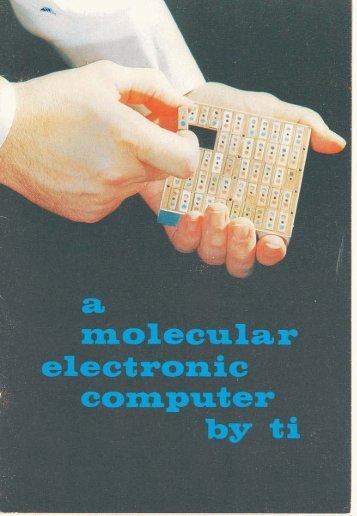A molecular electronic computer by TI, 1961