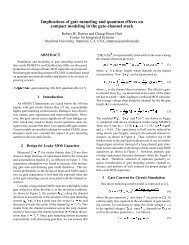 Implications of gate tunneling and quantum effects on - Stanford ...