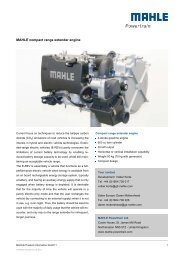 MAHLE compact range extender engine - Mahle Powertrain Ltd