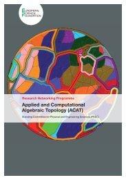 Applied and Computational Algebraic Topology (ACAT) - European ...